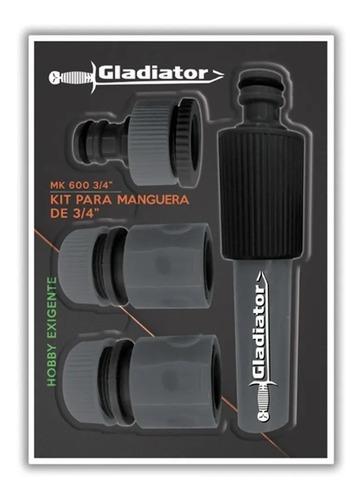 kit acoples rapidos 4 piezas manguera riego 3/4 jardin riego