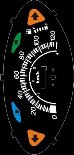 kit acrilico p/ painel - cod409v120 - honda biz c100