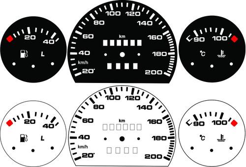kit acrilico p/ painel - cod510v200 - corsa sem contagiros