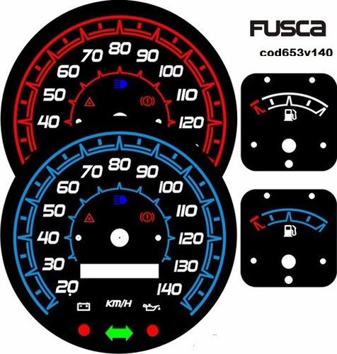 kit acrilico p/ painel do fusca - cod653v140 - fusca 140km/h