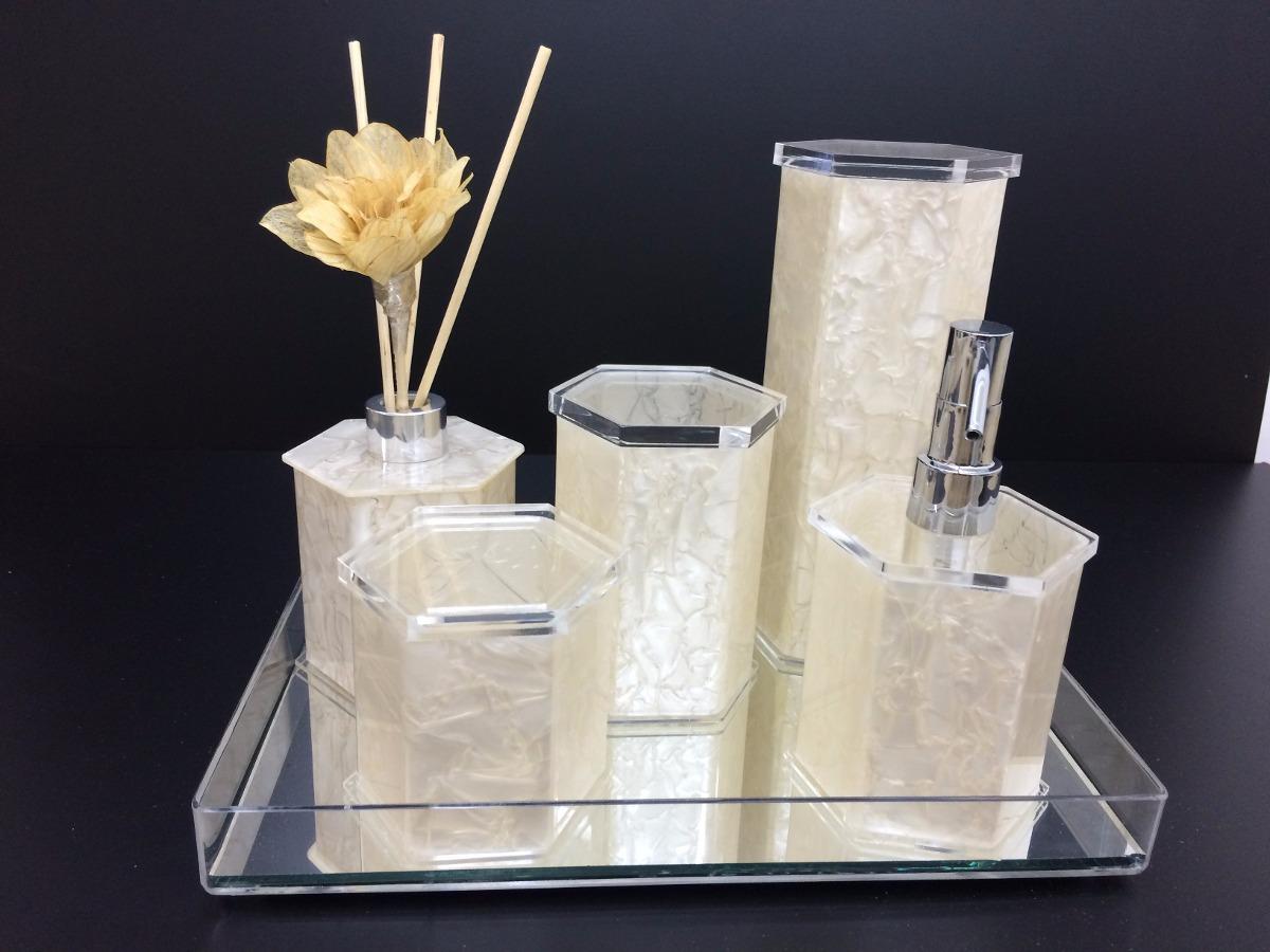 Kit Para Banheiro Em Acrílico : Kit acrilico para banheiro com difusor promo??o r