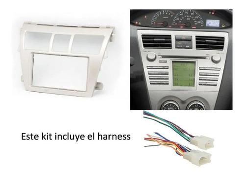 kit adaptación radio dash + harness toyota yaris (06-12)