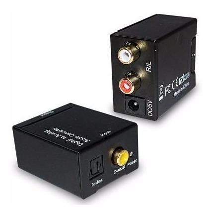 kit adaptador conversor audio optico a rca analago + cable