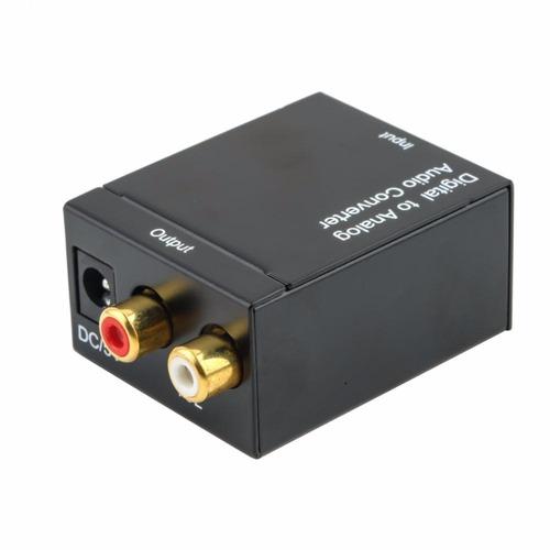 kit adaptador conversor ótico toslink coaxial digital p/ rca