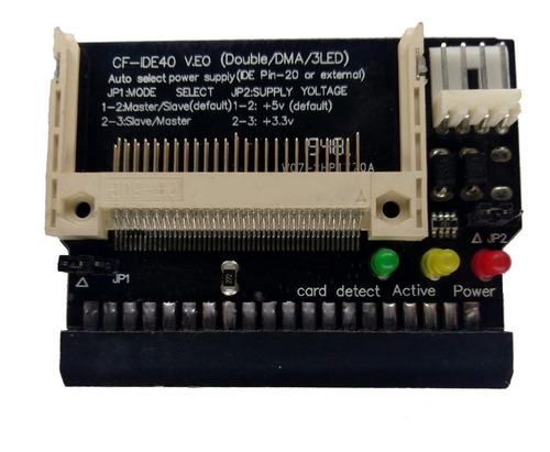 kit adaptador ide fêmea + cf cartão compact flash 512mb