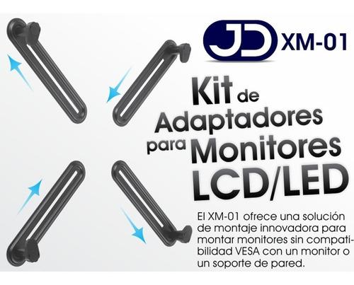 kit adaptadores para monitores no-vesa (sin huecos) jd xm-01