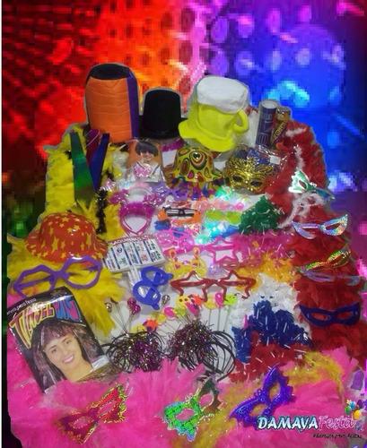kit adereços 254 itens,casamento/15 anos-piscas,plumas,neon