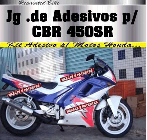 kit adesivo cbr 450sr 1994 mod bubbaloo mat importado