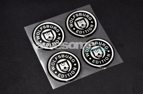 kit adesivo center cap wolfsburg | resinado