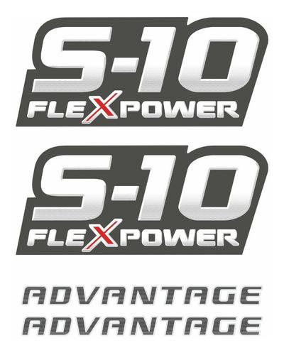 kit adesivo chevrolet s10 advantage flex vermelho 2009 2011