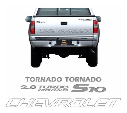 kit adesivo chevrolet s10 tornado 2006 prata s10kit56