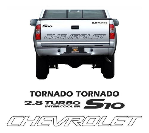 kit adesivo chevrolet s10 tornado 2006 preto s10kit55
