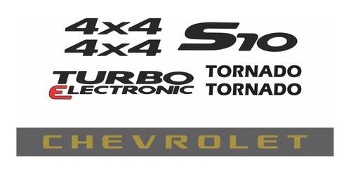 kit adesivo chevrolet s10 tornado 4x4 2007 preto s10kit58