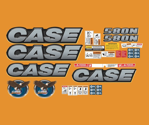 kit adesivo completo retroescavadeira case 580n +etiqueta mk