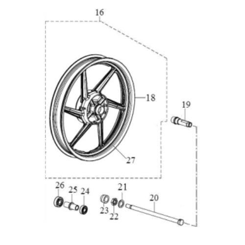 kit adesivo da roda traseira apache 150 original dafra
