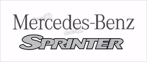 kit adesivo emblema mercedes benz sprinter sp001