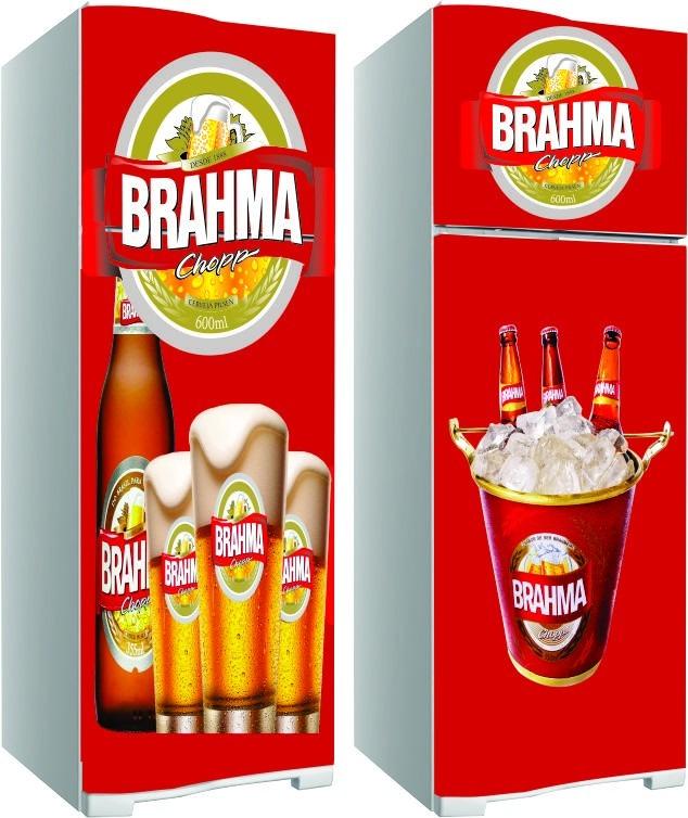 Adesivo De Natal Para Vidro ~ Kit Adesivo Envelopamento Skin Geladeira Cerveja Brahma