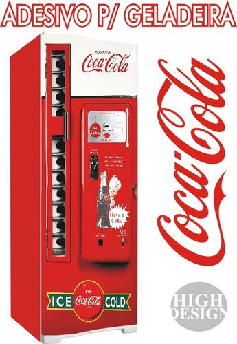 Adesivo De Kart ~ Kit Adesivo Envelopamento Skin Geladeira Máquina Coca cola R$ 135,00 em Mercado Livre