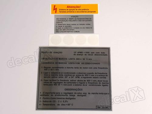 kit adesivo etiqueta motor volks 1982 voyage santana mt8286