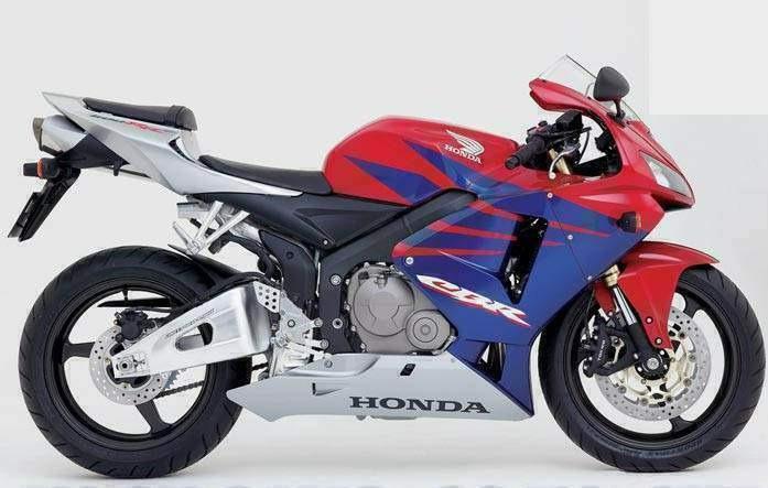 Kit Adesivo Faixa Honda Cbr 600rr 2005 Vermelha E Azul Hrc