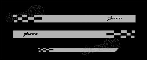 kit adesivo faixa lateral mala fiat punto imp312
