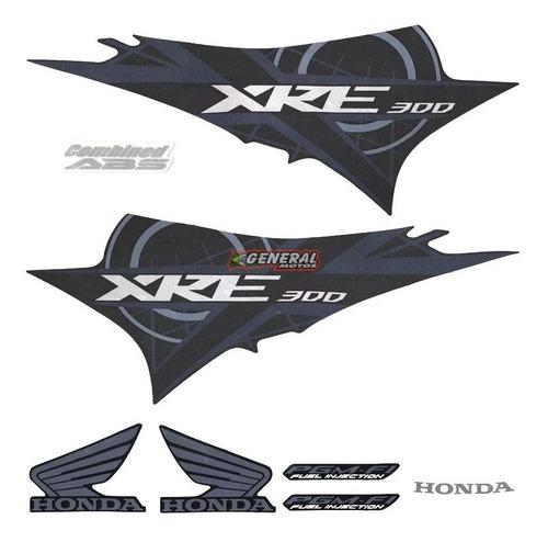 kit adesivo faixa moto honda xre 300 2012 azul