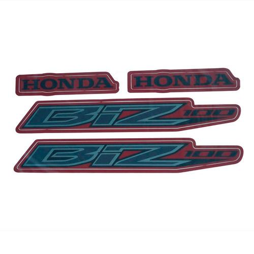kit adesivo faixa tanque biz 100 2013 2014 2015 honda moto