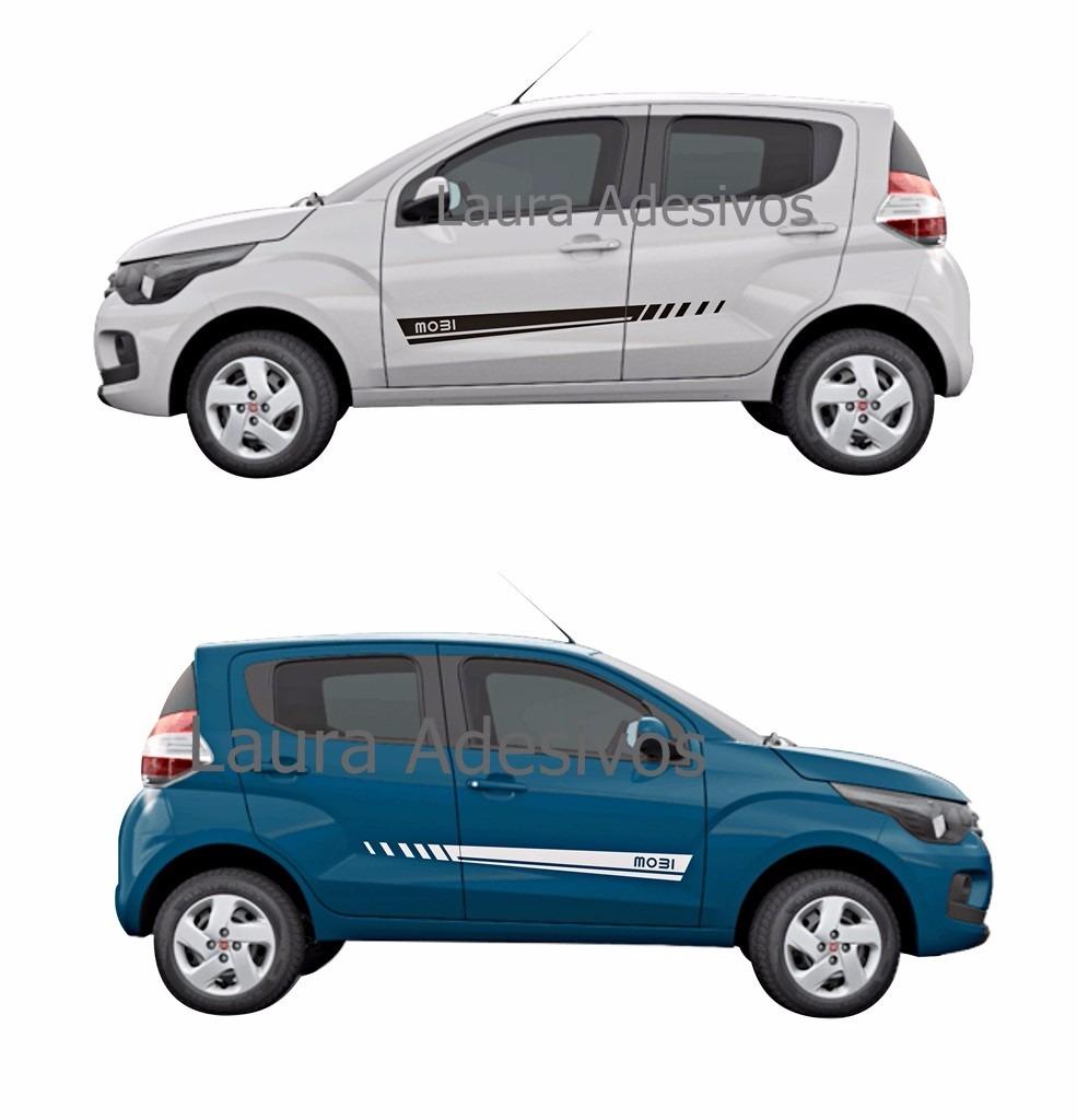 Kit Adesivo Fiat Mobi Mb4 Faixa Lateral Like Easy Way On La