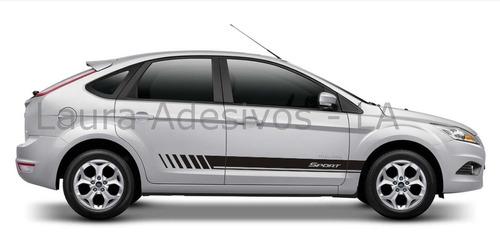 kit adesivo focus sport g1 g2 faixa lateral hatch sedam la