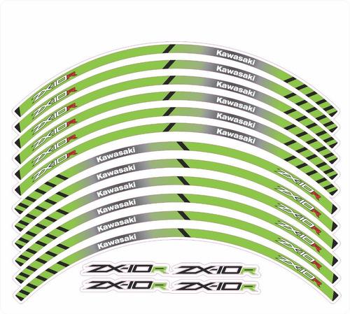 kit adesivo friso cartela refletiva moto kawasaki zx-10r m05