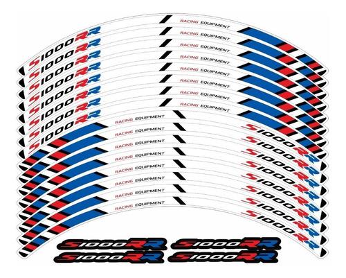 kit adesivo friso refletivo roda moto bmw s1000rr fri026