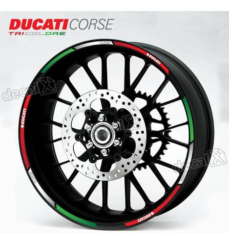 kit adesivo friso refletivo roda moto ducati fri29