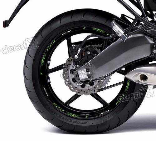 kit adesivo friso refletivo roda moto kawasaki verss fri91