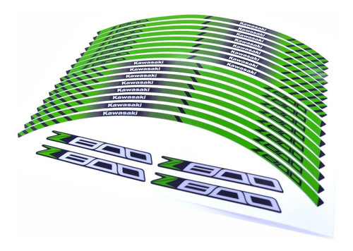 kit adesivo friso refletivo roda moto kawasaki z800 fri69