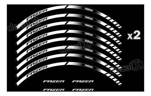 kit adesivo friso refletivo roda moto yamaha fazer 250 fri43