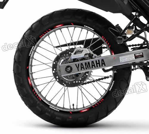 kit adesivo friso refletivo roda moto yamaha tenere 250 fr55