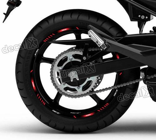 kit adesivo friso refletivo roda moto yamaha xj6 fri61