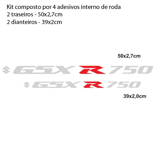 kit adesivo full large roda m02 moto suzuki gsx r 750 srad