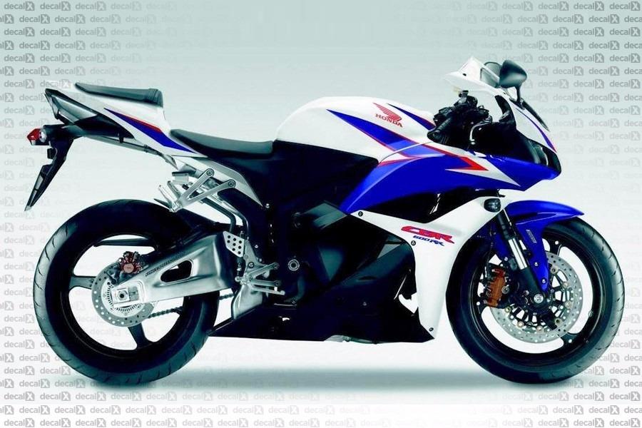 Kit Adesivo Honda Cbr 600rr 2011 Azul E Branca 60011ab R 59990