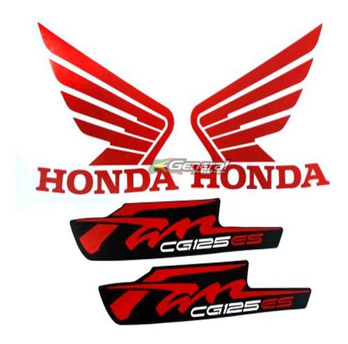 kit adesivo jogo faixas moto honda fan 125 2012 es preta