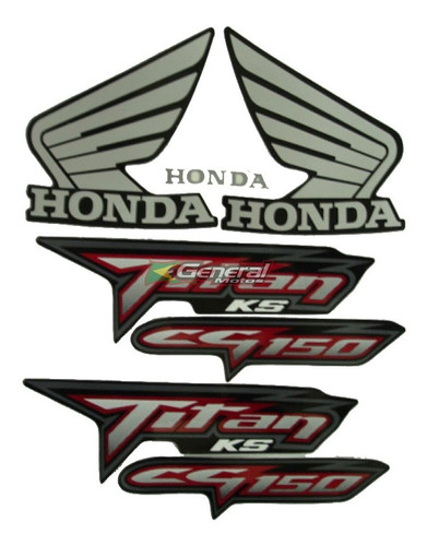 kit adesivo jogo faixas moto honda titan 150 2008 ks preta