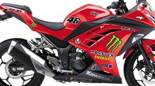 kit adesivo kawasaki ninja 300 monster redbull