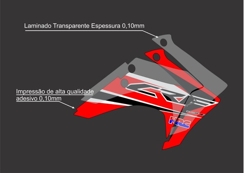 kit adesivo moto cross trilha honda crf 230 usa lm083