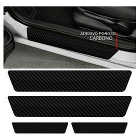 Kit Adesivo Protetor Fibra Carbono De Porta Universal Carro