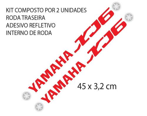 kit adesivo refletivo roda moto yamaha xj6 large mod. xj6
