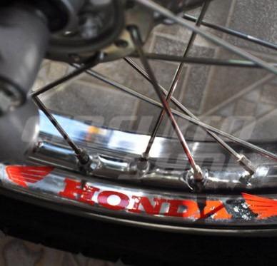 kit adesivo roda refletivo moto titan fan bros - honda asas