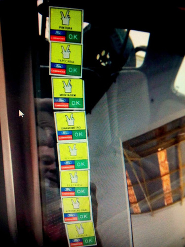 kit adesivo selos da qualidade parabrisa ford gm vw fiat ok
