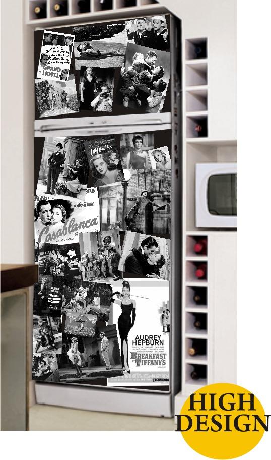 Adesivo De Parede Sjc ~ Kit Adesivo Skin Geladeira Envelopamento Filmes Clássicos R$ 89,90 em Mercado Livre