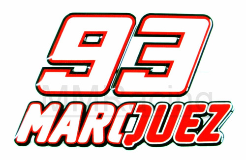 Aparador Estreito Para Sala ~ Kit Adesivos 93 Marc Marquez Moto Gp Resinado Numero E Letra R$ 16,00 em Mercado Livre