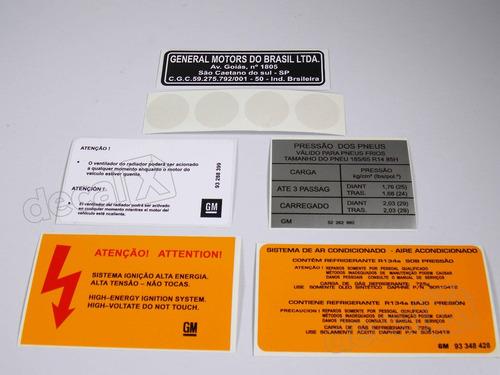 kit adesivos etiquetas motor chevrolet meriva zafira etmt2